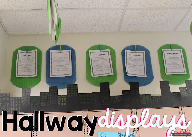 Having a hallway display is a great way to give a preview to upcoming students, and a fun reminder for past students.