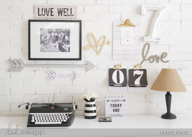 February Gallery Wall Reset by Jamie Pate  |  @jamiepate for @heidiswapp