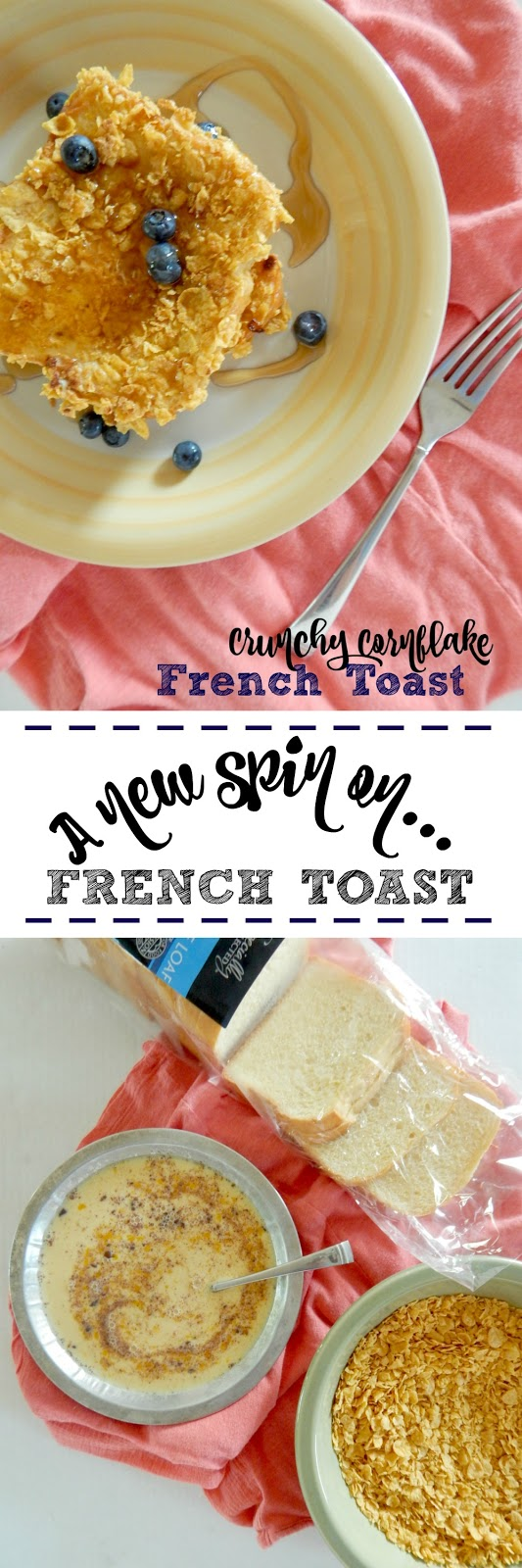 Crunchy Cornflake French Toast...a fun twist on the traditional breakfast!  Kids love this crunchy version. (sweetandsavoryfood.com)