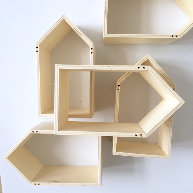 Diy geometric wall shelf harlow thistle home design for Diy cassette shelf