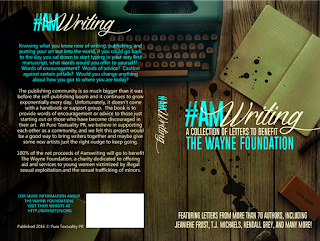 Cover Reveal: #AmWriting A Collection of Letters to Benefit The Wayne Foundation