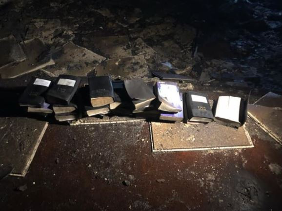 Photos: A devastating fire burned down a church in West Virgina but not a single Bible was touched by the flames
