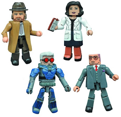 Gotham Wrath of the Villains Minimates Series 4 Box Set by Diamond Select Toys - Detective Harvey Bullock, Dr. Hugo Strange, Dr. Leslie Thompkins & Victor Fries (aka Mr. Freeze)