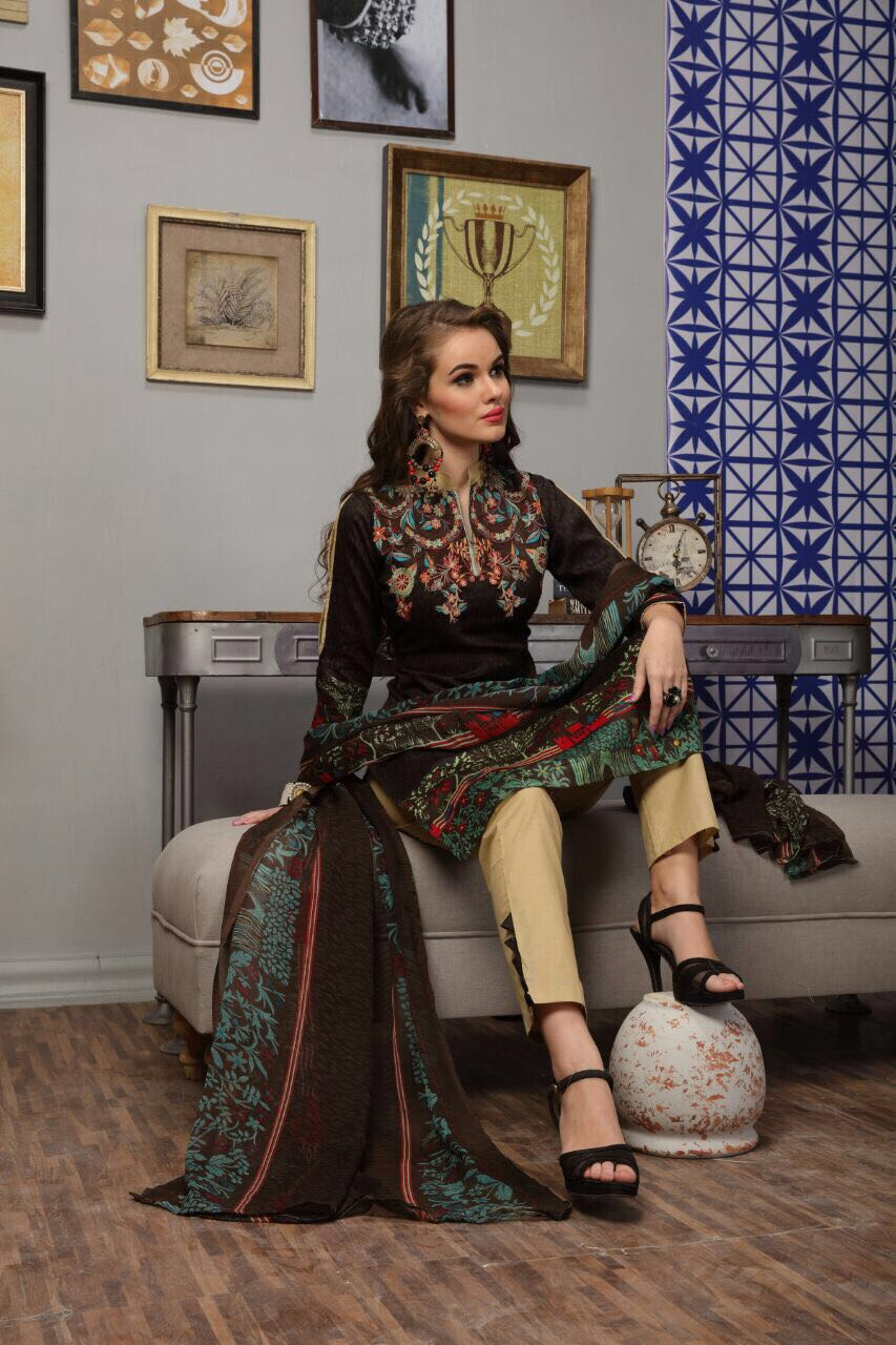 Al-Zohaib – Latest Heavy Embroidery Dress Material Wholesale