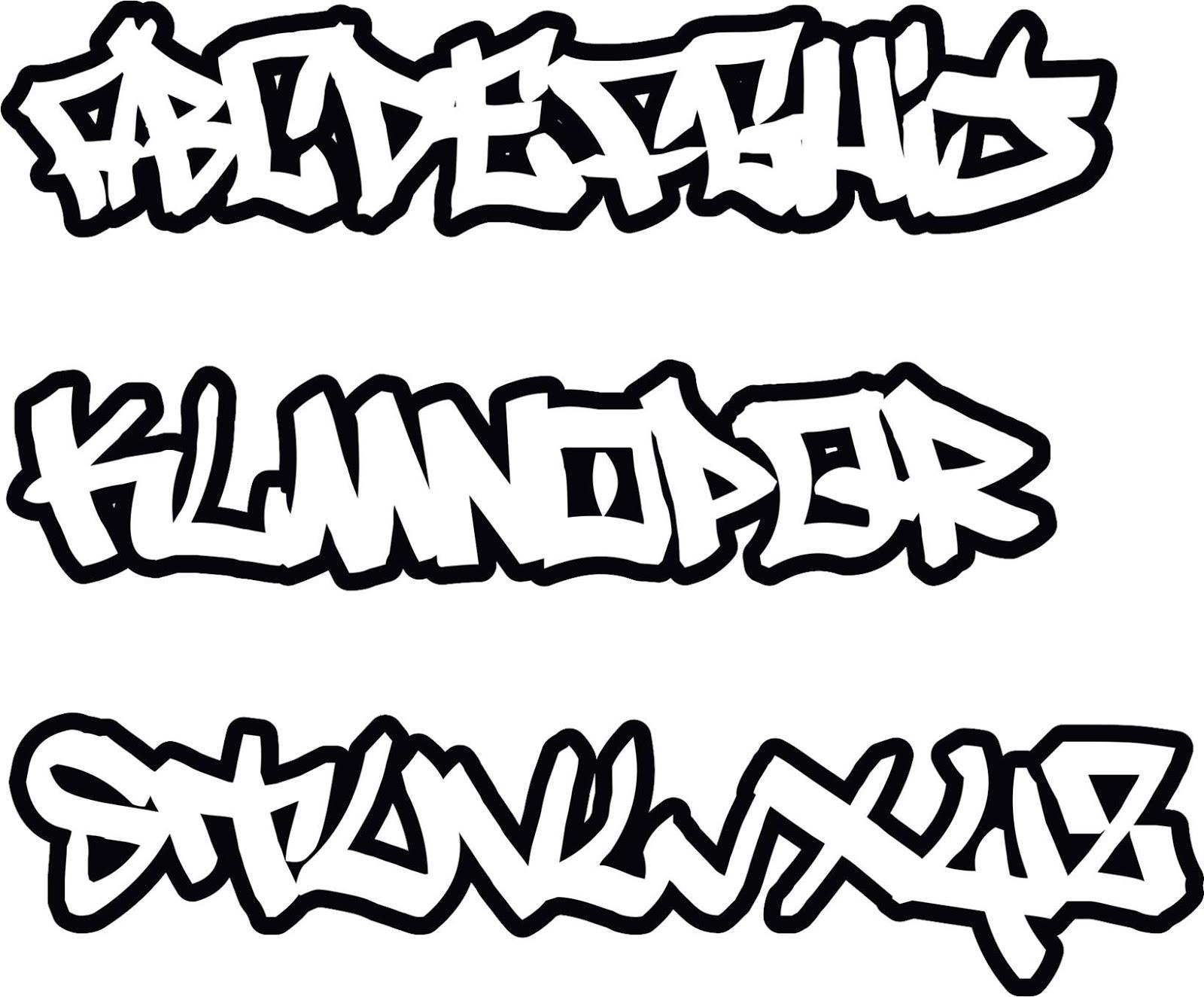 das beste graffitibuchstaben abc  graffiti schrift