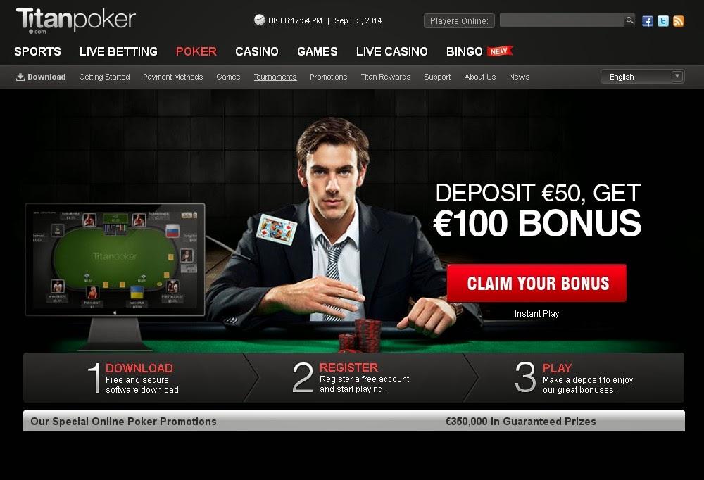 Titan Poker Screen