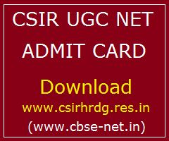 image : CSIR UGC NET Admit Card Download @ CBSE-NET.IN