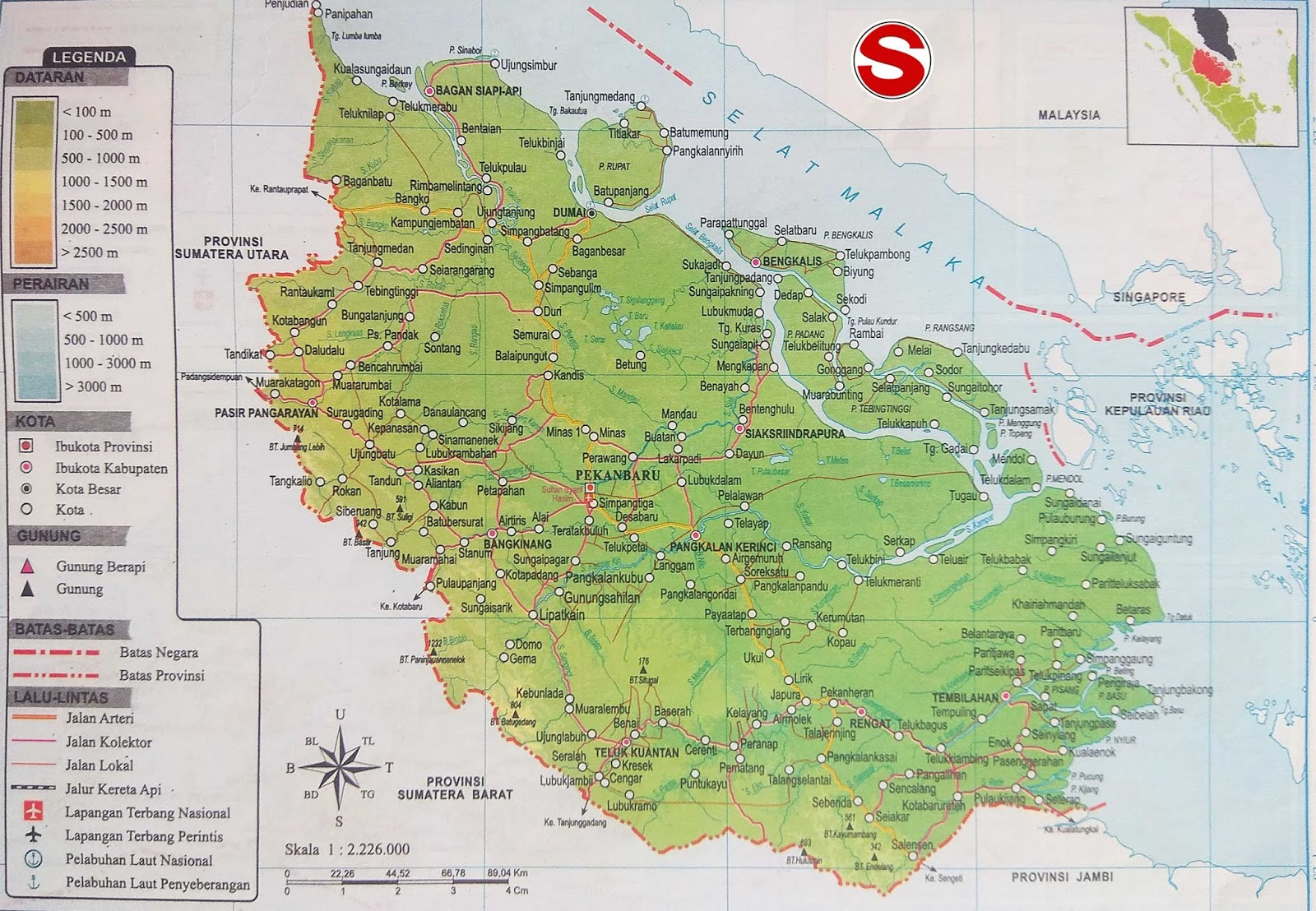 Gambar Peta Provinsi Riau Lengkap Penjelasannya