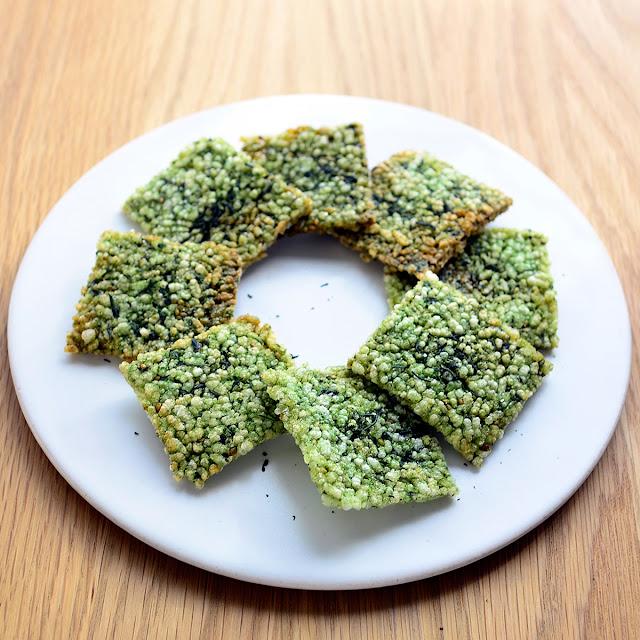 日本茶ノ生餡「しずおか緑茶」を使った、緑茶おこげせんべいのレシピ。おいしい日本茶研究所。
