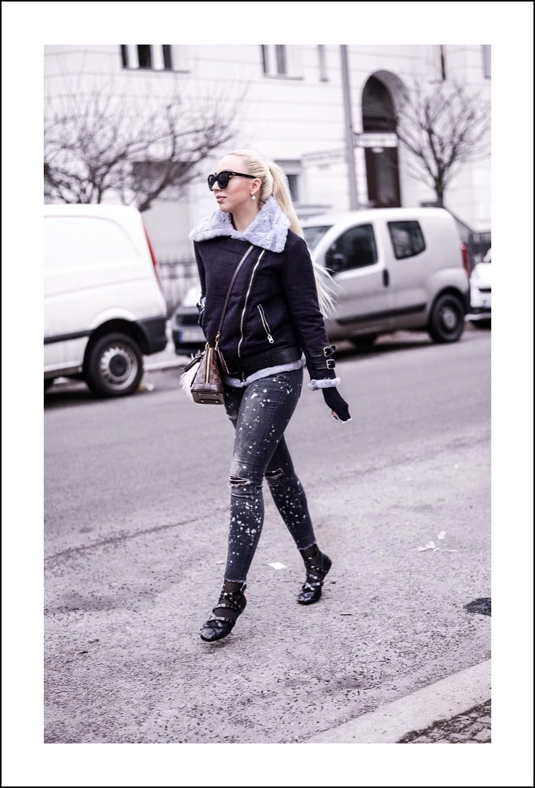 winter streetstyle_shearling jackets_miu miu inspired flats