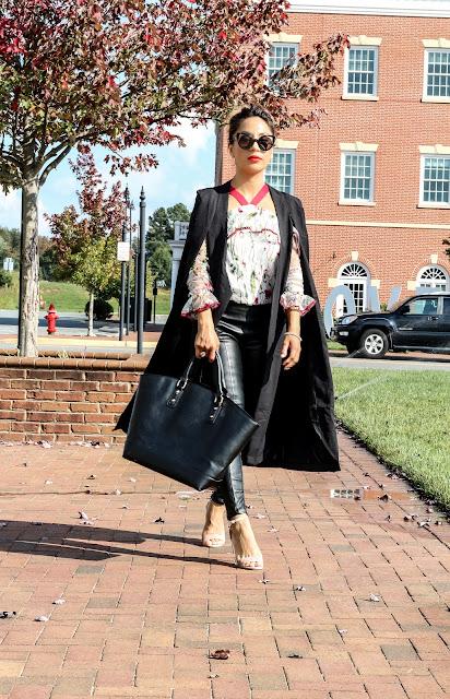 long cape blazer look idea / fall look