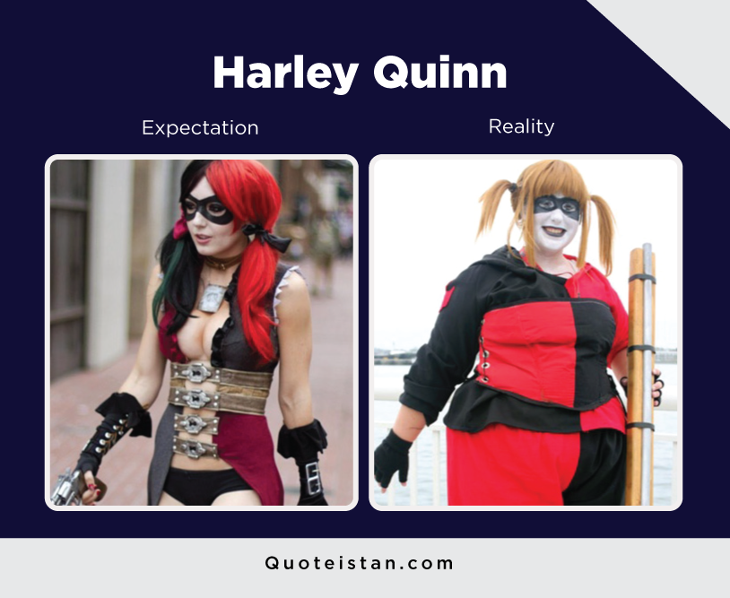 Expectation Vs Reality: Harley Quinn