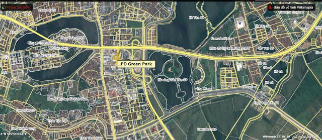 Vị trí dự án chung cư Phương Đông Green Park