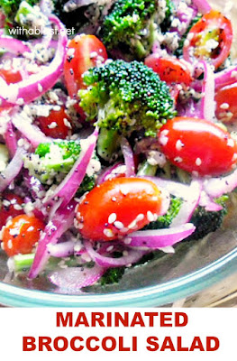 Marinated Broccoli Salad is a crunchy, delicious salad and a definite must-have recipe for especially Broccoli lovers