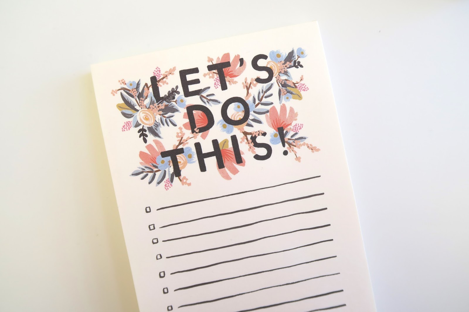 Let's Do This list notepad from Rifle Paper Co