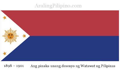 pinakaunang desenyo ng watawat ng Pilipinas