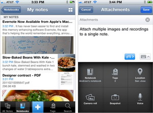Evernote version 4.0 for iPhone and iPod Touch released
