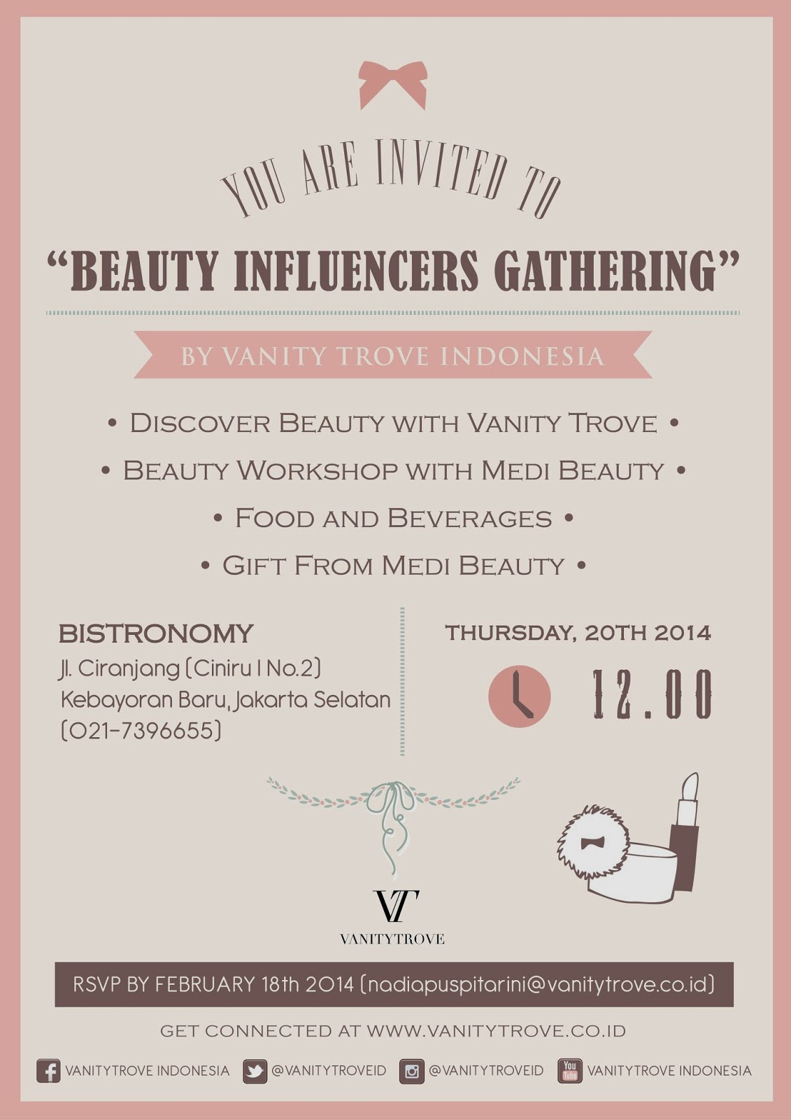 Beauty Influences Gathering by Vanity Trove Indonesia
