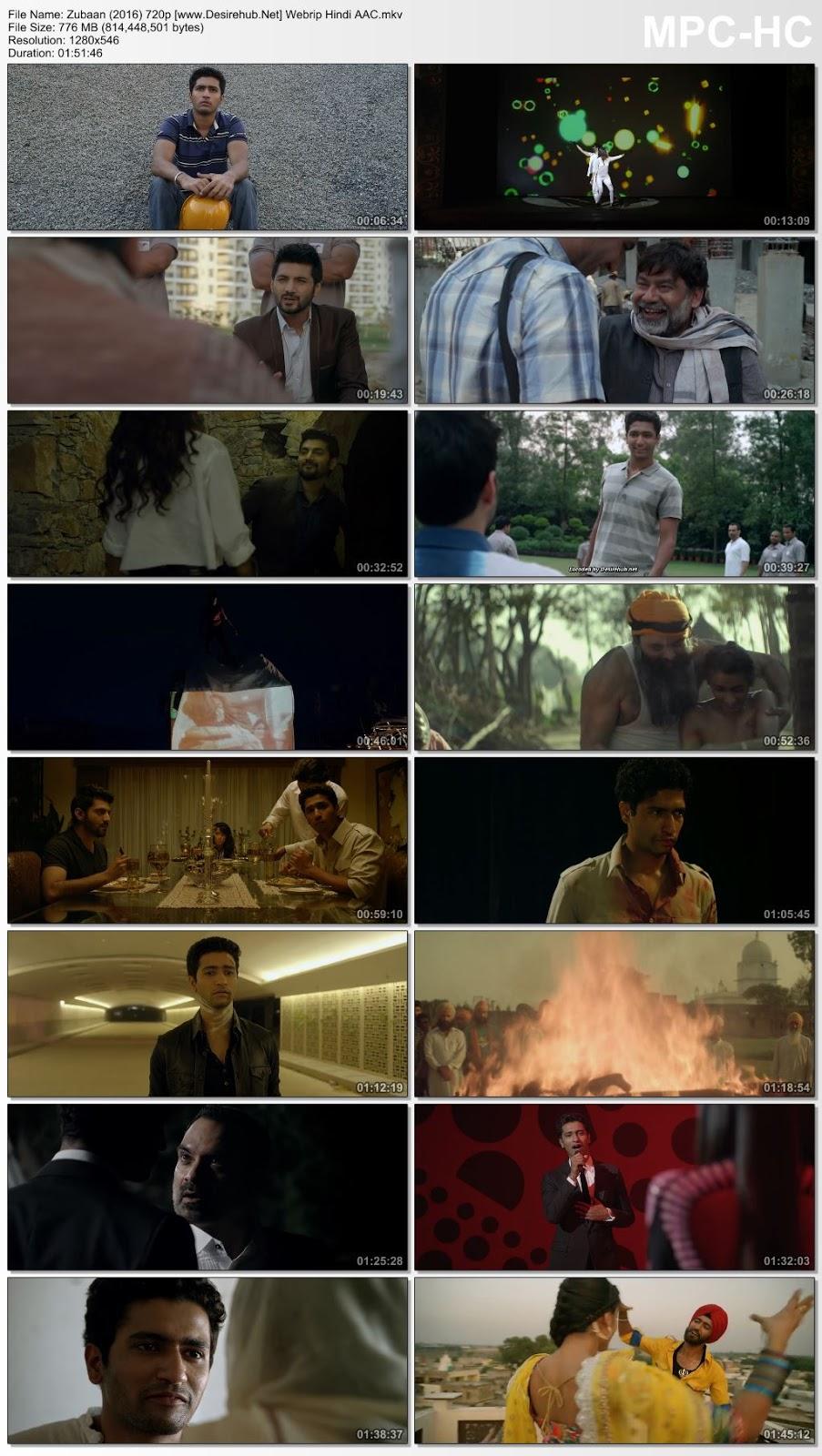 Zubaan (2016) Hindi 720p WEBRip Hindi AAC – 800MB Desirehub
