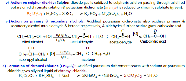primary & secondary alcohols & formation of chromyl chloride