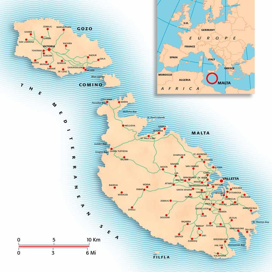 Malta | Mapas Geográficos de Malta