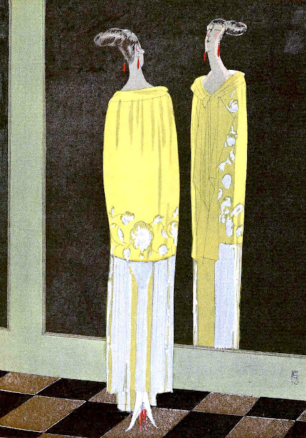 1920s fashion illustration by Benito