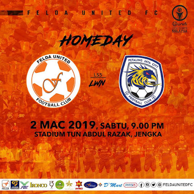 Live Streaming Felda United vs PJ City Liga Super 2.3.2019