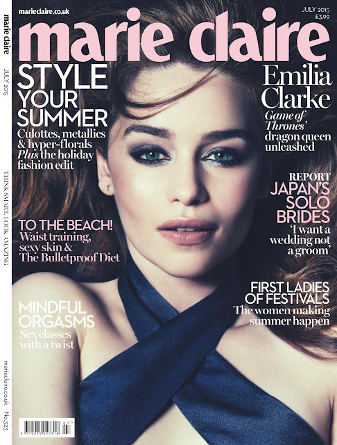 Gorgeous Emilia Clarke in Marie Claire UK (July 2015)