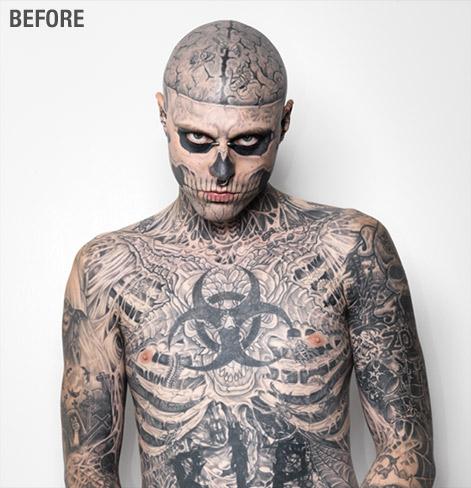 Mężczyzna Zombie Boy Bez Tatuaży