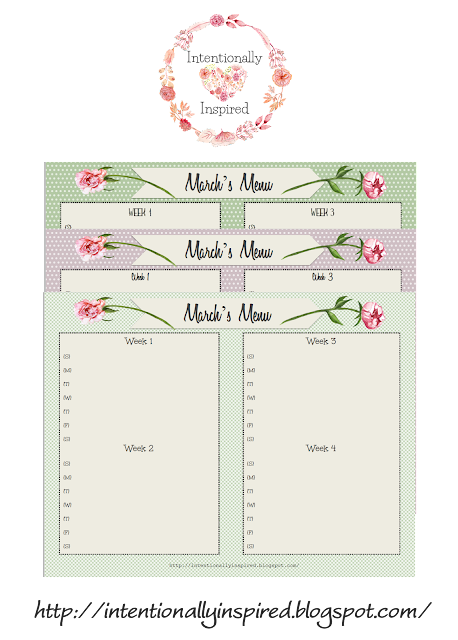 Top 10 keys to healthy meal planning on a budget & free March printable menu planner