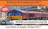 Railway Jobs For 270 Station Master PostS- Railway Recruitment Cell 2017