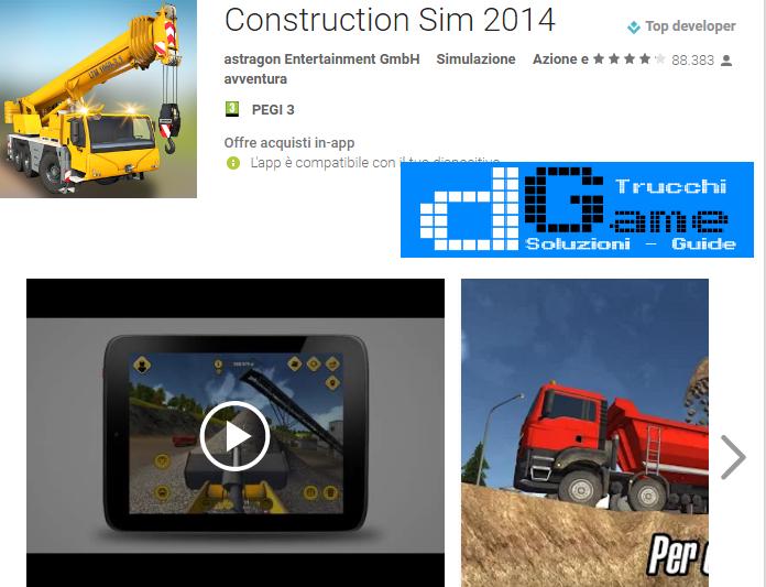 Trucchi Construction Sim 2014 Mod Apk Android v1.12