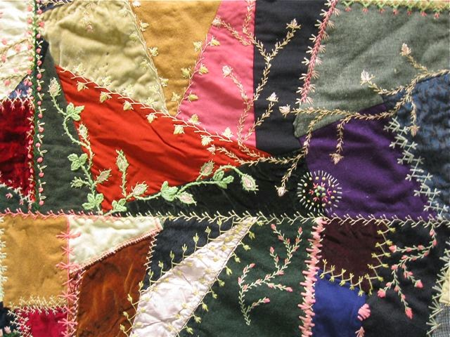 Embroidered Crazy Quilt