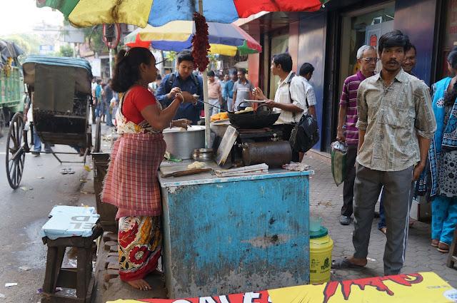 Penjual makanan kaki lima di sudder street