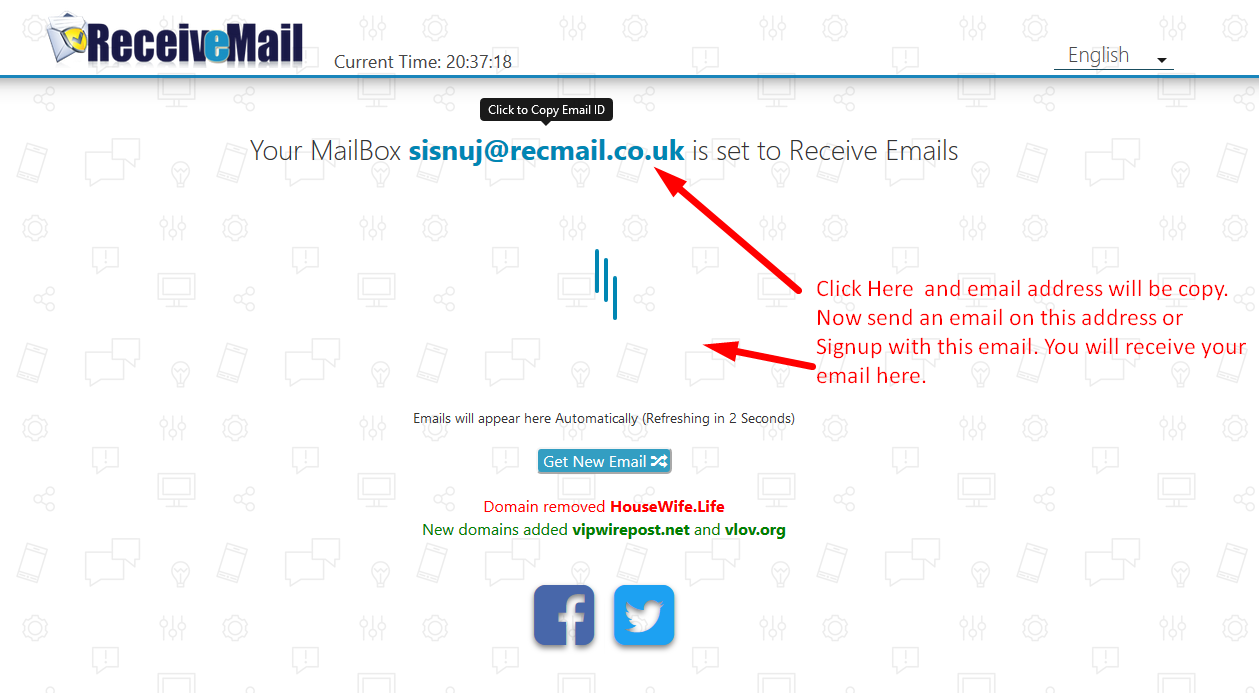 Fastest Emails Receiver - Create Temporary Email With One Click