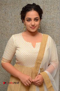Actress Nithya Menen Pictures at 100 Days of Love Pre Release Press Meet  0050.JPG