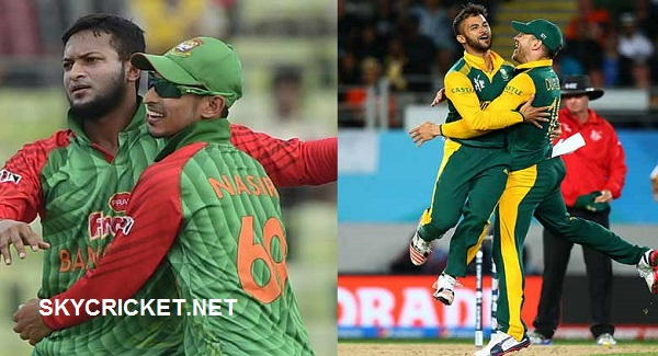 Bangladesh tour of South Africa Fixture