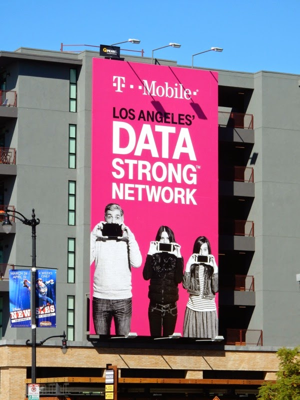 T Mobile Los Angeles Data Strong Network billboard