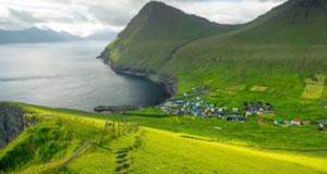 Gjógv ( Gjáargarður ), Eysturoy, Faroe Islands