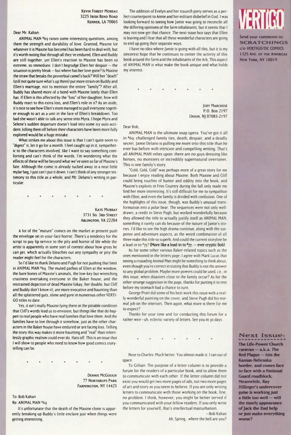 Read online Animal Man (1988) comic -  Issue #75 - 27