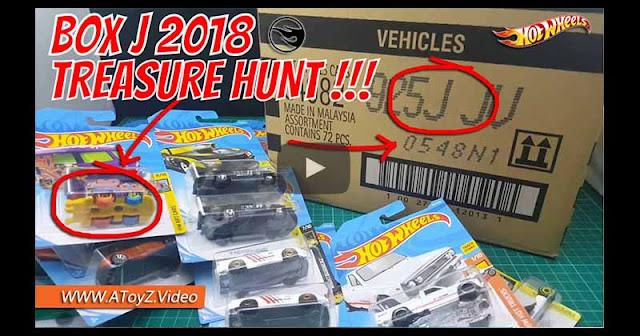 Hot Wheels LOT J / BOX J 2018 Unboxing