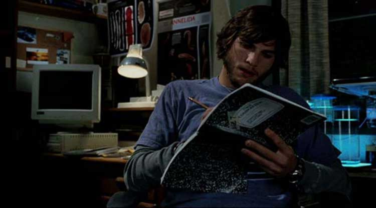 Ashton Kutcher tries to set the time right in The Butterfly Effect.