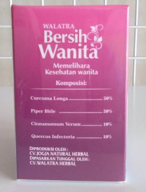 Komposisi Walatra Bersih Wanita