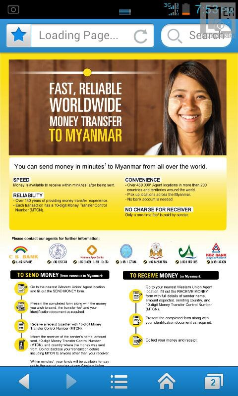 Western Union Myanmar Currency Exchange Rates