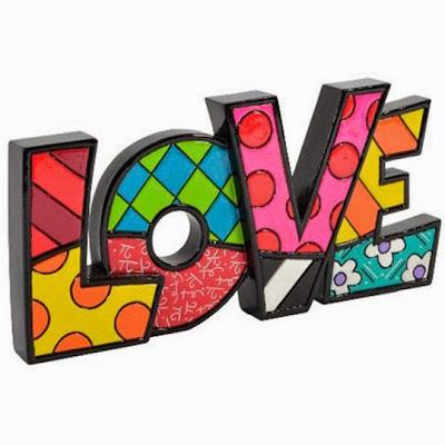 Escultura Romero Britto - Palavra Love