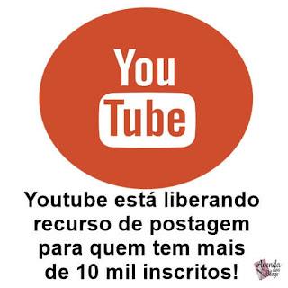Postagem no Youtube