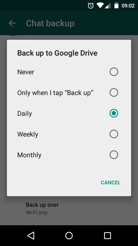 Back up to Google Drive