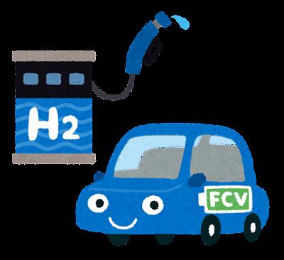 燃料電池自動車のイラスト