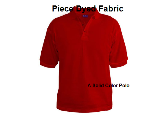Solid dyed polo - example of piece dyed fabric