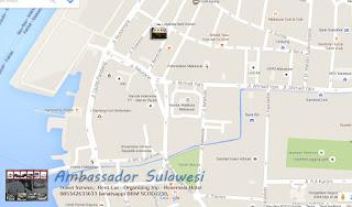 peta hotel murah di Makassar